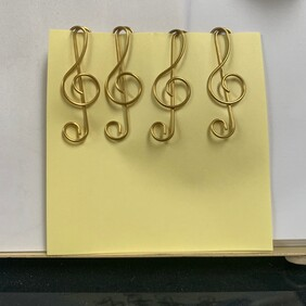 Treble Clef Shaped Paper Clips